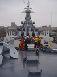 Confined Space Training at the Battleship USS North Carolina